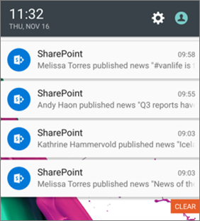 Example of a news notification on mobile