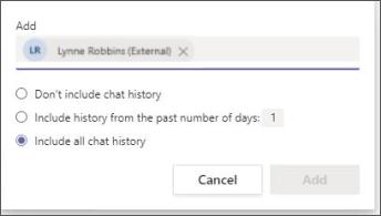 Chat history