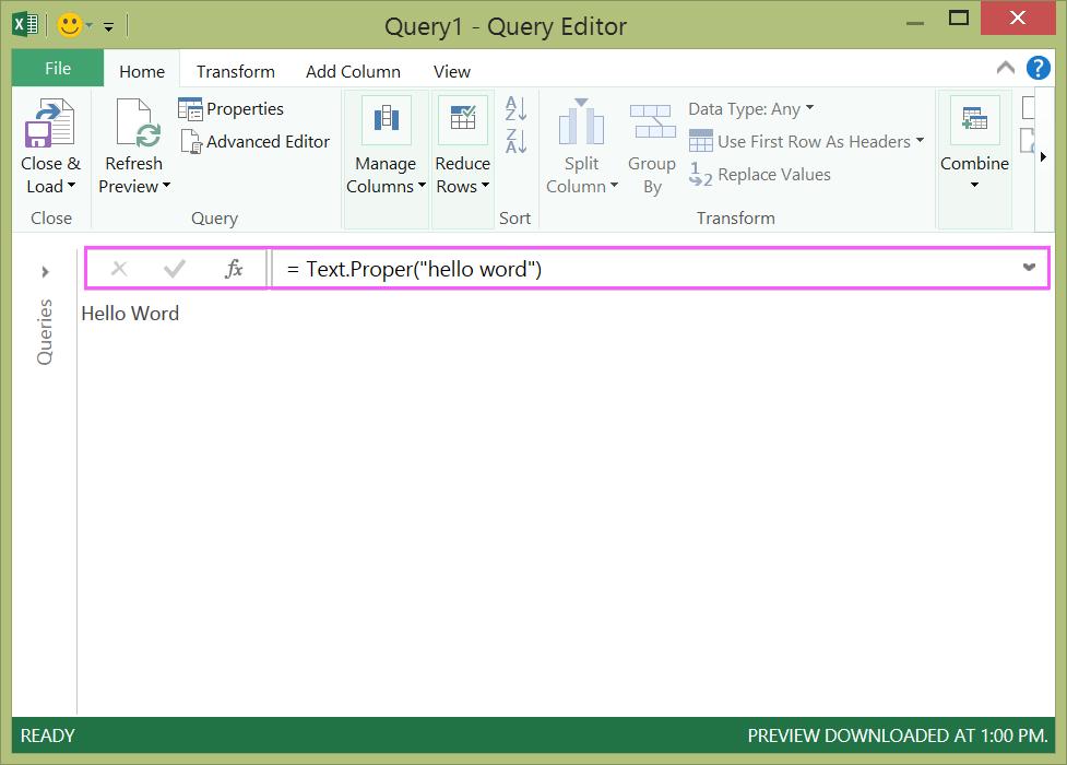 Create Power Query formulas in Excel - Excel