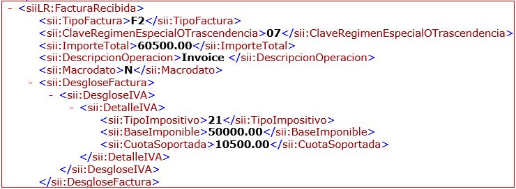 The value of Macrodato node is N