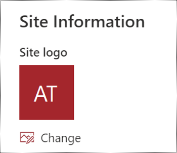 Screenshot showing the SharePoint dialog for changing the site logo.