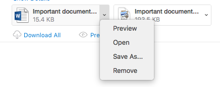 View attachments in Outlook for Mac - Office Support