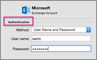 Enter your new Exchange password