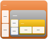 Nested Target SmartArt graphic layout