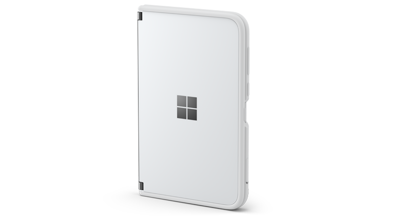 Surface Duo with the bumper on