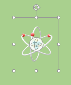 3D model showing rotation handles