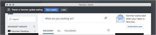 Yammer App Updates