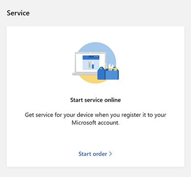 Start service request online