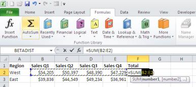 microsoft excel summing up ways to add and count excel data
