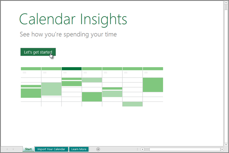 Calendar Insights template