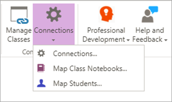 Select Connections in the Class Notebook ribbon.