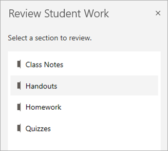 Select a section to review.
