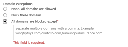 Choose which domains to allow or block