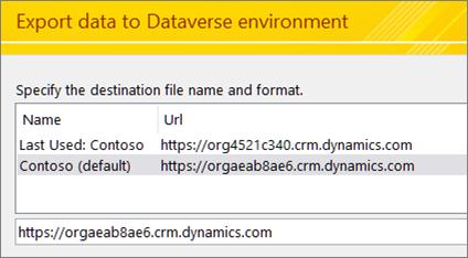 Entering the Dataverse URL