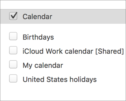 iCloud calendar in Outlook 2016 for Mac