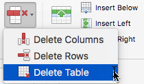 The Delete Column command