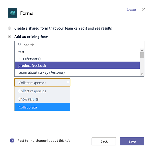 Add an existing group form to Microsoft Teams