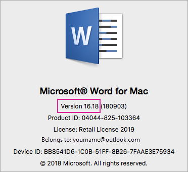 Go back to Office 2016 for Mac after upgrading to Office 2019 for