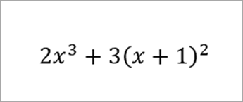 equation: 2x to the 3rd plus 3 (x+1) squared