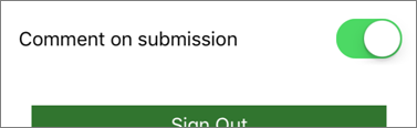 Comment on submission