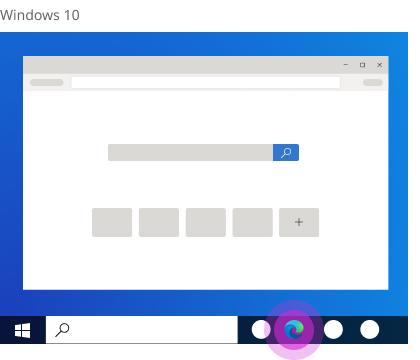 Microsoft Edge home page.