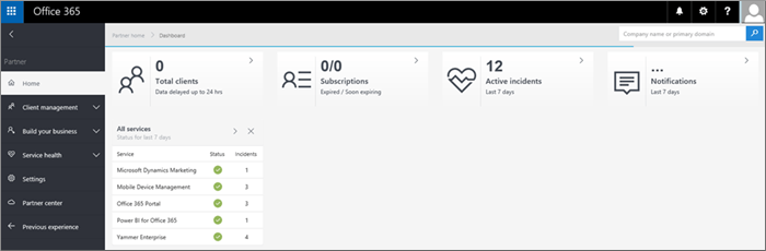 The new look for the partner admin center