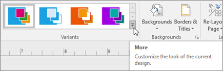 Visio Variants ribbon