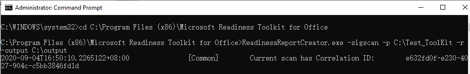 Run command line to scan a folder