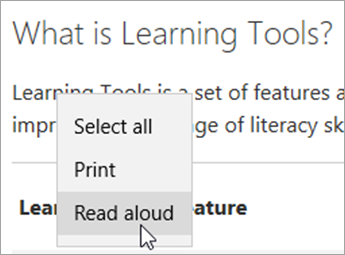 Use Learning Tools in the Edge browser - Office Support