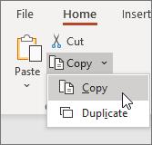 Copy slide