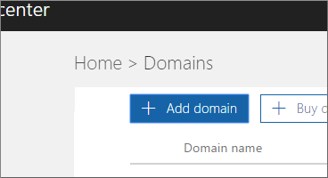 Click add domain