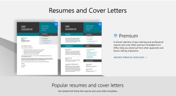 A collection of resumes and cover letters