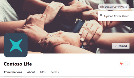 Group header in Yammer