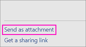 "Image of the ""Send as Attachment"" command"
