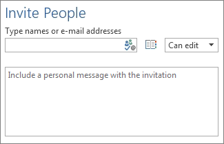 The box to list people's email addresses