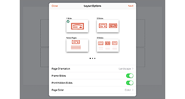 Layout Options dialog box