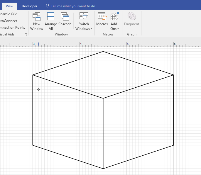 Draw the shape manually using the line tool.