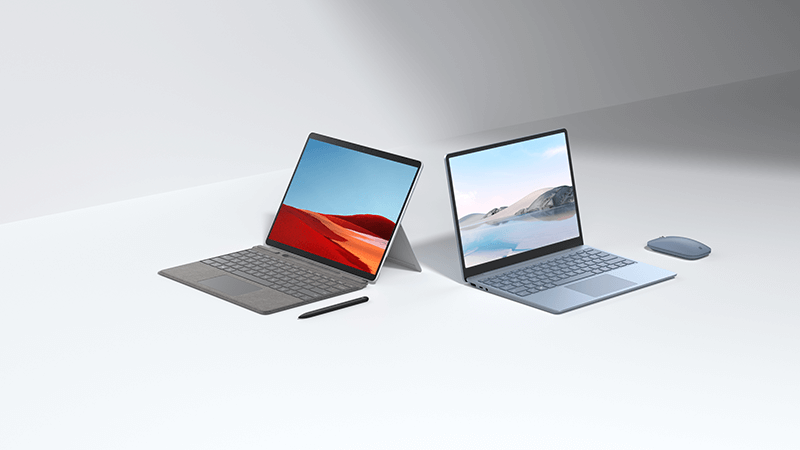Surface Pro X and Surface Laptop Go