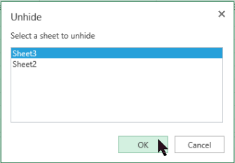 Unhide worksheets