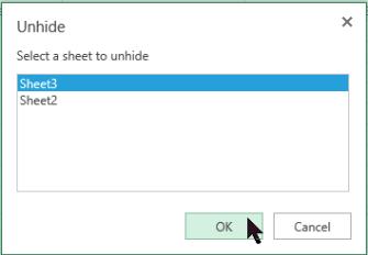Unhide worksheets