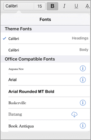 Change the font in Office apps on a mobile device - Office