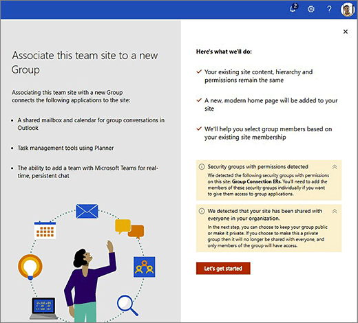 This image shows the first screen of the new Office 365 creation wizard.