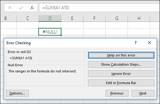 Move the Error Checking box below the Formula Bar