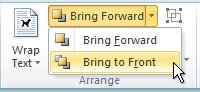 Bring to front on the Bring Forward menu