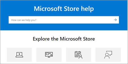 Explore Microsoft Store help