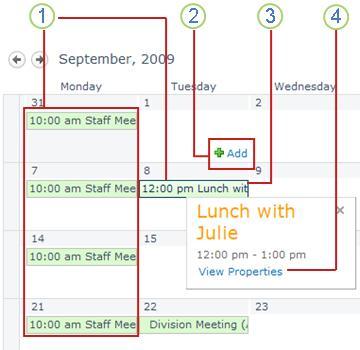 A basic calendar