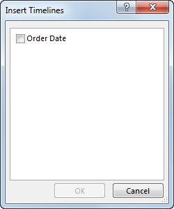 Insert Timelines dialog box