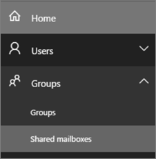Select to open shared mailbox