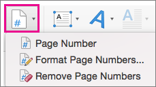 On the Insert tab, select Page Number