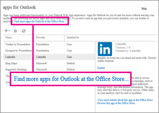 Find more apps at the Office Store